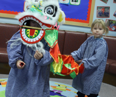 Nursery girls celebrate Chinese New Year