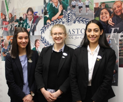 Announcing the Head Girl and Deputy Head Girls elect