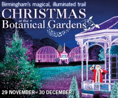 Christmas trail at The Birmingham Botanical Gardens