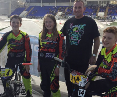 Charlotte On Track in BMX Competition
