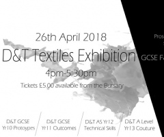 Design & Technology Exhibition: Thursday 26 April 2018