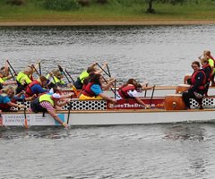 Staff make a splash at Dragonboat Race