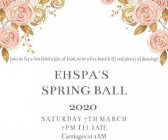 Join us for an evening of fine dining and dancing at the EHSPA Spring Ball