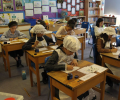 Pupils learn in the Victorian Classroom
