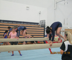 Prep gymnasts train at GMAC