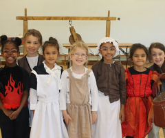 Year 2 Girls Travel Back to the Great Fire