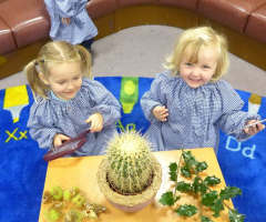 A busy time for Nursery girls
