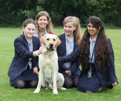 EHS Girls Raise Money for Guide Dog Charity