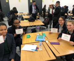 Students compete in the UK Mathematics Trust Challenge