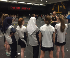 Elite Netballers attend Wasps Masterclass
