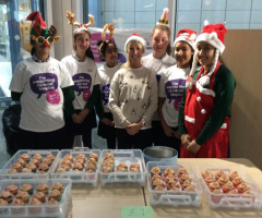 Charity cake sale a success