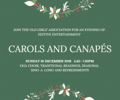Join us for Carols and Canapés