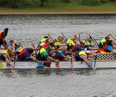 Staff gear up for Saturday's Dragon Boat Race