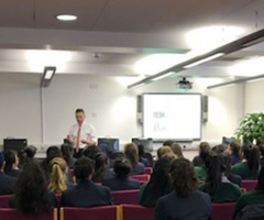ENT surgeon gives careers talk