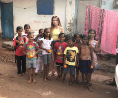 Freya's charitable trip to Goa