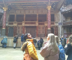 English students visit Shakespeare's Globe Theatre