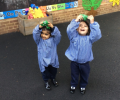 Girls go green in Nursery