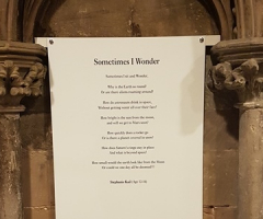 Stephanie's poem selected for Lichfield Cathedral