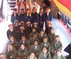 Year 4 board the Golden Hinde
