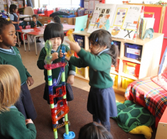 Reception girls develop their skills