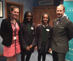 Year 10 girls meet the Earl of Wessex