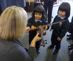 Nursery visit the Music School