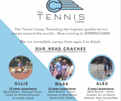 New for Summer Holidays 2019  - The Tennis Camp