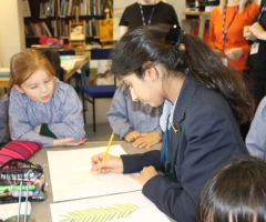 Reception girls turn art critics