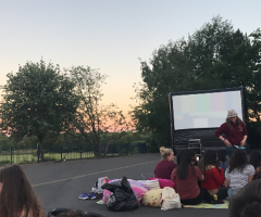 Outdoor Cinema treat for Year 12